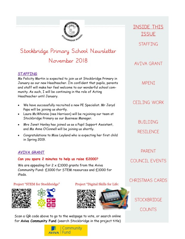 School Newsletter - November 2018