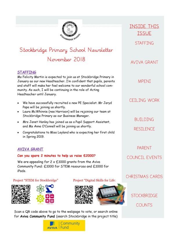 School Newsletter - November 2018